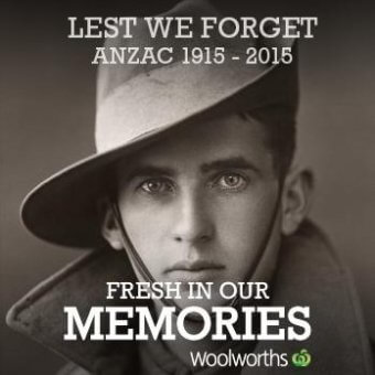 woolworths savages ANZAC day with a social media post