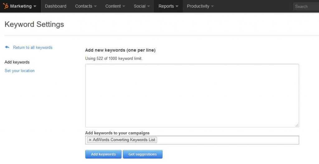 hubspot-keywords-tool
