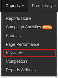 find-the-keywords-report