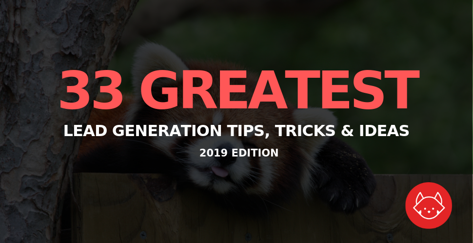 33 Greatest lead generation